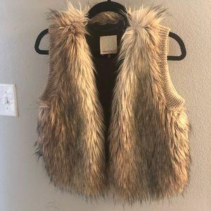Rebecca Taylor wool alpaca and acrylic vest
